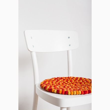 myfelt orange/red Seat Pad, round, Ø 36 cm