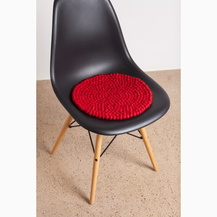 myfelt red Seat Cushion, round, Ø 36 cm