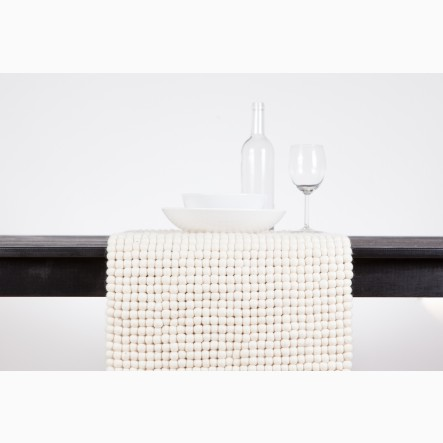 myfelt white Table Runner, 40 x 70 cm