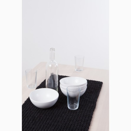 myfelt black Table Runner, 40 x 70 cm