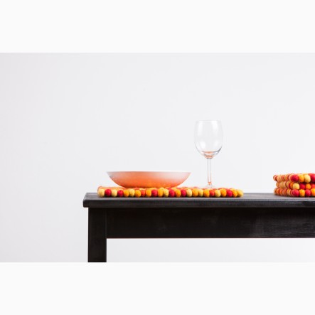 myfelt Loni Place Mat rectangular, orange and red, 35 x 45 cm