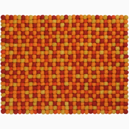 myfelt Loni Place Mat / Table Mat orange/red, rectangular, 35 x 45 cm