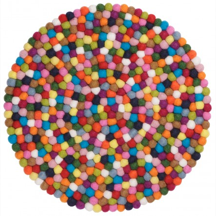 Colourful myfelt Lotte Place Mat / Table Mat, round, Ø 36 cm