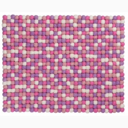 myfelt Rosa Place Mat / Table Mat pink, rectangular, 35 x 45 cm