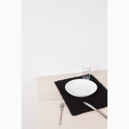 myfelt Nero Felt Ball-Table Mat black, rectangular, 35 x 45 cm