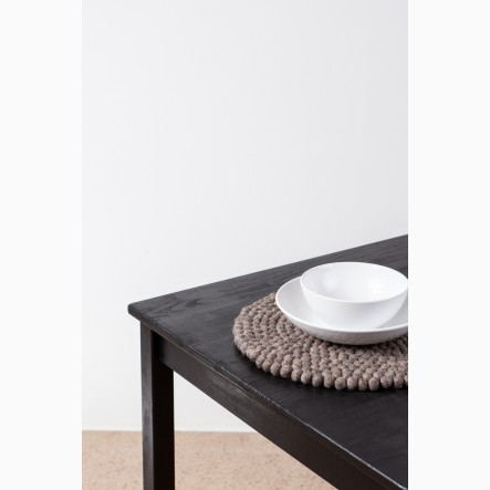 Middle-brown, round Place Mat Alwin (Ø 36 cm) by myfelt