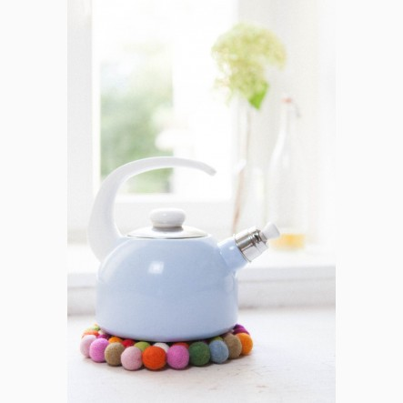 myfelt round Pot Trivet made of colourful felt balls, Ø 20 cm
