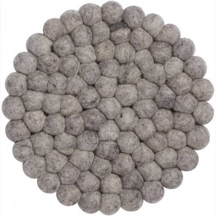 myfelt Carl Pot Coaster grey, round, Ø 20 cm