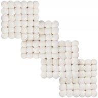 Linéa — white, square Coaster (9 x 9 cm, Set of 4 pcs.)