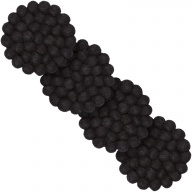 Nero — black, round Coaster (9 cm, Set of 4 pcs.)