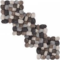Hardy — square Coaster made of felt balls (9 x 9 cm, Set of 4 pcs.)